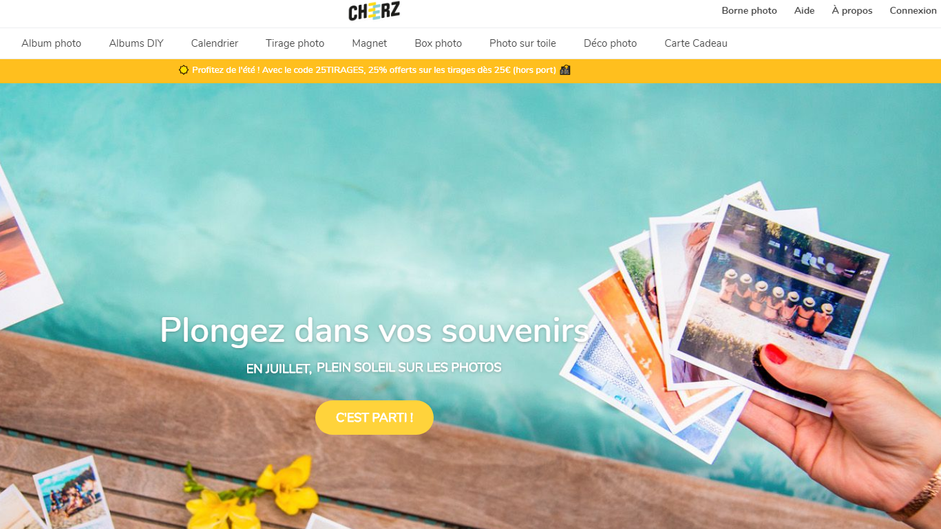 10 euros de réduction chez Cheerz sans minimum d'achat !