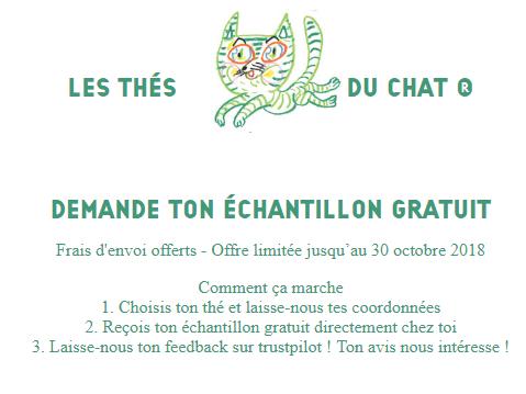 Echantillon de thé gratuit !