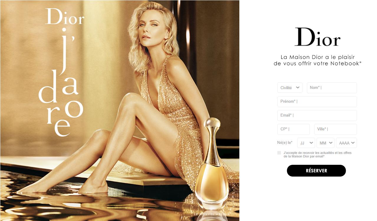 Un NoteBook Dior offert chez Sephora
